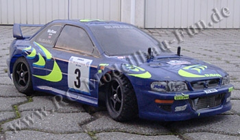 RC Drift Auto Tamiya Subaru Impreza WRC mit Heckantrieb