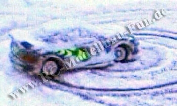 Test im Schnee mit Video, ob alles funktioniert