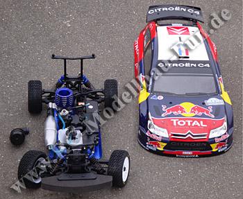 Ferngesteuertes Verbrenner Auto Kyosho DRX Rally Citroen 1/9