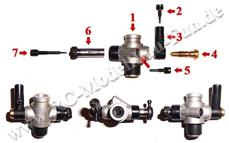 Vergaser Verbrenner Motor Kyosho GXR18