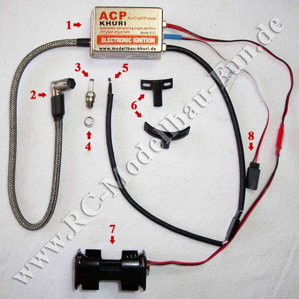 Elektronische Modellbau CDI-Zündung ACP CDI 1 Singel SS
